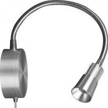 Lampa LED de perete 3W 4500K argintie Corpuri de iluminat