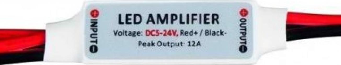 Mini amplificator pentru lumini cu LED de o singura culoare 6A 5-24V DC 72W Corpuri de iluminat