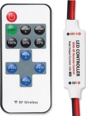 Mini Controller RF pentru lumini LED monocromatice Corpuri de iluminat