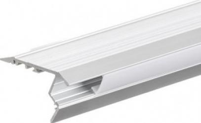Profil aluminiu pentru benzi LED flexibile montare pe trepte 2m Corpuri de iluminat
