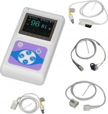 Pulsoximetru profesional Contec CMS60D senzor adulti pediatric si neonatal cablu de extensie Pulsoximetre