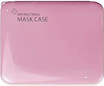 Cutie portabila pentru depozitare si protectie masca faciala plastic Roz BBL1847