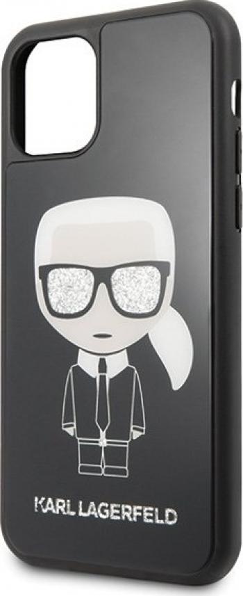 Husa de protectie Karl Lagerfeld Iconik Body Glitter iPhone 11 Pro Negru Huse Telefoane