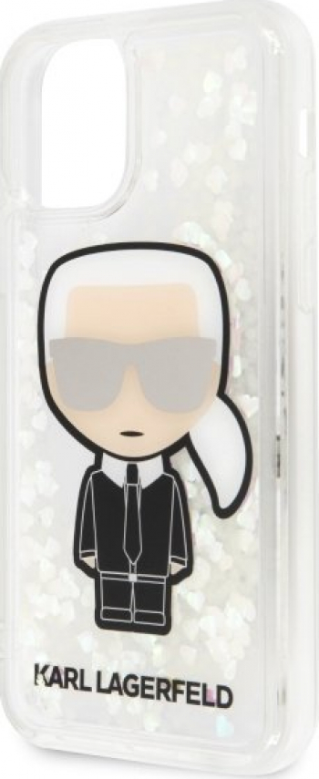 Husa de protectie Karl Lagerfeld Iconik Glitter Glow In The Dark iPhone 11 Pro Transparent Huse Telefoane