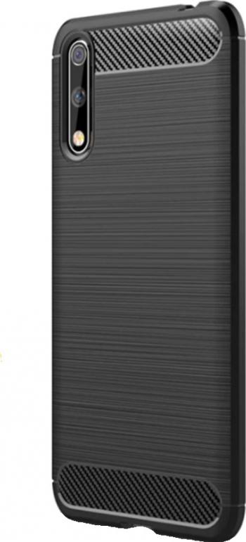 Husa G-Tech TPU din carbon flexibil si rezistent Huawei P Smart S Negru Huse Telefoane