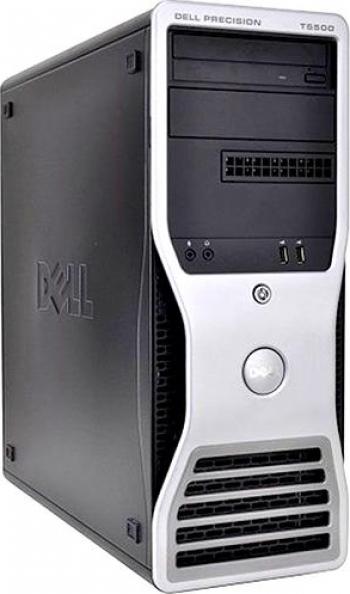 Workstation Dell Precision T5500 Tower 2x Intel Xeon X5675 3.46 GHz 24GB DDR3 Hard 300GB SAS DVD-RW Placa Video nVidia GeForce GTX 275