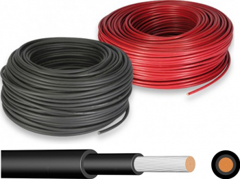 Cablu 6mm pentru conectare panouri fotovoltaice Sisteme si panouri solare