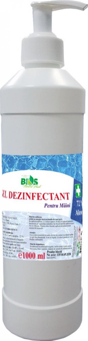 Gel Dezinfectant pentru maini cu Aloe Vera si 72 Alcool produs Avizat 1 litru Gel antibacterian