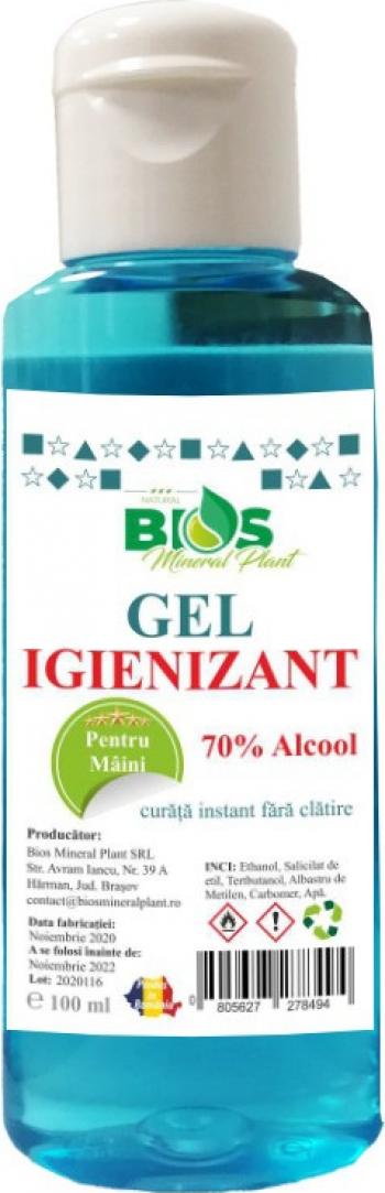 Gel Igienizant pentru maini cu 70 Alcool 100 ml Gel antibacterian