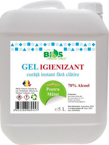 Gel Igienizant pentru maini cu 70 Alcool 5 litri Gel antibacterian