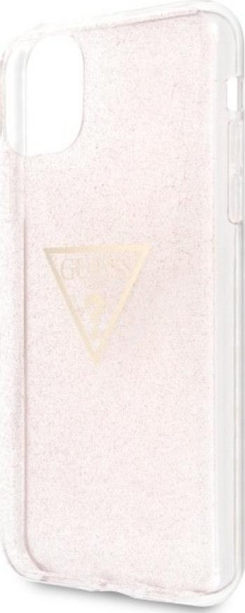 Husa de protectie Guess Glitter Triangle iPhone 11 Pro Max Roz Huse Telefoane
