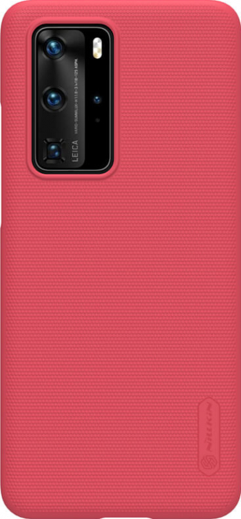 Husa Nillkin Ultra Grip Shield Case pentru Huawei P40 Pro Design texturat Suport telefon inclus in pachet Rosu