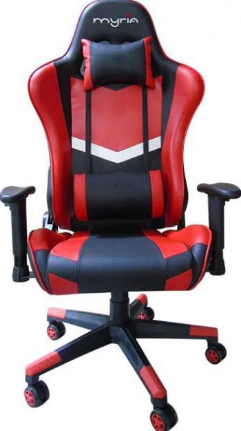 Scaun gaming MYRIA MG7409 piele ecologica negru-rosu Scaune Gaming