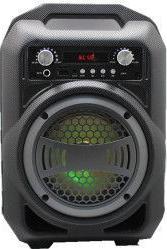 Boxa Activa Portabila Bluetooth Soundvox TM BS-12 USB TF/SD Card Aux Radio FM Lumini Neagra