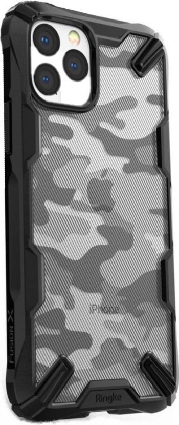 Husa iPhone 11 Pro Bumper Ringke Fusion X Militar Design Negru Huse Telefoane