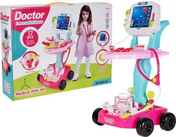 Kit mobil de resuscitare roz cu baterie Malplay 106300 Electronica si Accesorii