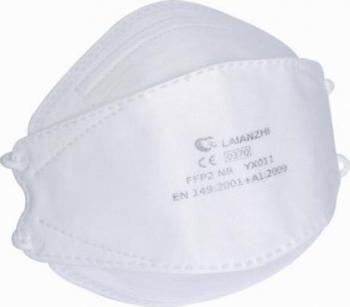Set 100 buc Masti protectie faciala FFP2 NR YX011 Fish Shape cu 4 straturi certificat CE Masti chirurgicale si reutilizabile