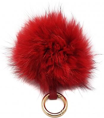 Accesoriu geanta blana naturala raton rosu Genti de dama