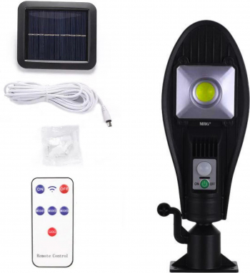 Lampa solara stradala MRG A-JX-256 Panou solar Cu telecomanda Negru Corpuri de iluminat