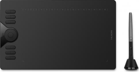 Tableta grafica Huion HS610 10x6.25 and  8192 niveluri presiune TILT and plusmn 60 and deg include 8 varfuri rezerva
