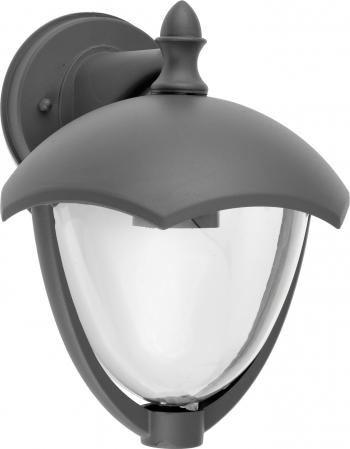 Aplica perete exterior Well Venezia E27 60W IP44 gri inchis Corpuri de iluminat