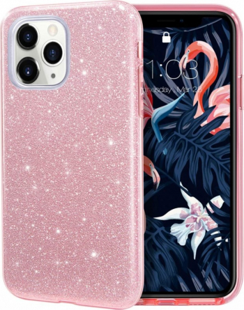 Husa Apple iPhone 11 Pro Color Shiny TPU Sclipici - Roz Huse Telefoane