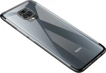 Husa de protectie Clear Color Xiaomi Redmi Note 9 Negru/Transparent Huse Telefoane