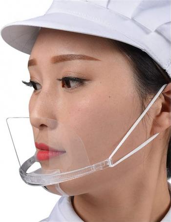 Masca din plastic transparent pentru nas si gura folosinta in domeniul HoReCa si Saloane Infrumusetare transparent