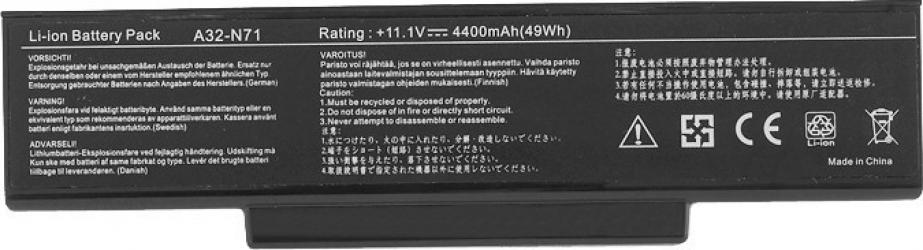 Baterie Laptop EcoBox Asus A73BR 4400 mAh A32-N71