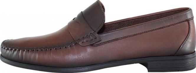 Mocasini barbati piele naturala - Dogati shoes maro - Marimea 40 Incaltaminte barbati