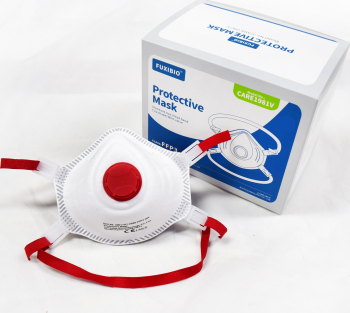 Masca profesionala protectie ridicata tip cupa FFP3 KN99 Careable Fuxibio valva expiratie rosie certificata CE Masti chirurgicale si reutilizabile