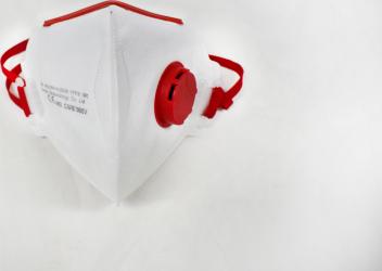 Masca protectie profesionala FFP3 KN99 5 straturi Careable FuxiBio cu valva rosie certificata CE Masti chirurgicale si reutilizabile