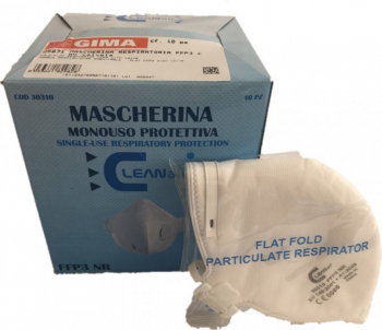 Masca respiratorie FFP 3 NR cu supapa Set 2 buc GIMA ITALY Tip PPE clasa III Certificat CE Masti chirurgicale si reutilizabile