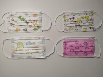 Set 50 buc. masca de protectie de unica folosinta pentru copii colorata Masti chirurgicale si reutilizabile