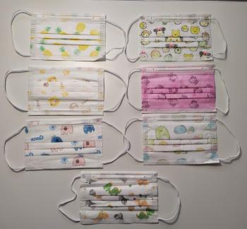 Masti de protectie faciala copii set 50.buc Masti chirurgicale si reutilizabile