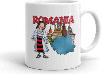 Cana personalizata Romania - elemente traditionale Cadouri