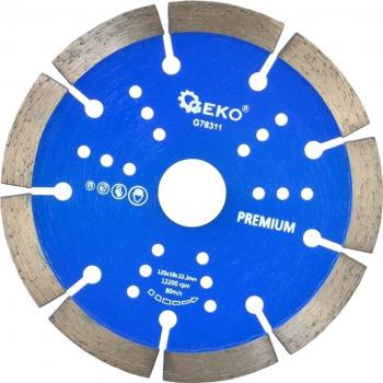 Disc segmentat pentru beton 125x10x22 2mm GEKO PREMIUM G78311