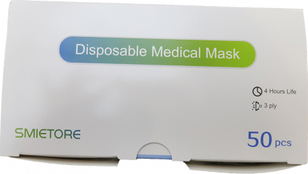Set 50 bucati Masti chirurgicale medicale tip IIR de unica folosinta filtrare BFE 98 Certificate CE CP9994039BU