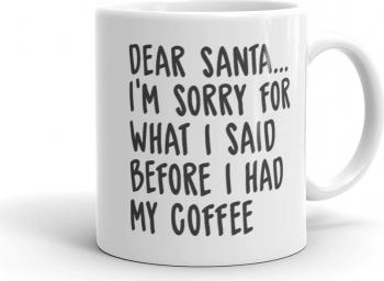 Cana personalizata Dear Santa