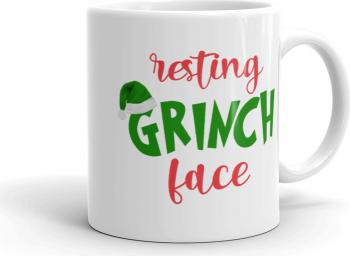 Cana personalizata Resting Grinch face