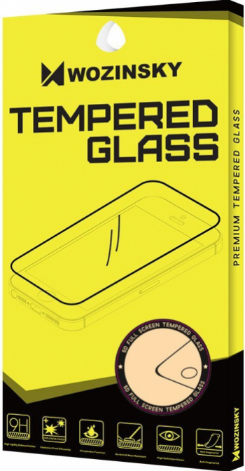Folie Sticla Wozinsky Tempered Glass 9H Full Glue Samsung Galaxy A21s Transparent/Negru Folii Protectie
