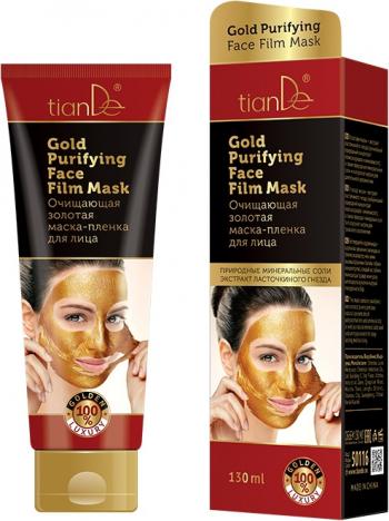 Masca aurie faciala exfolianta de curatare TianDe 130ml