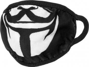 Masca de protectie cu imprimeu reutilizabila din poliester MA-720-79-4 Negru Masti chirurgicale si reutilizabile