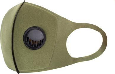 Masca de protectie cu valva reutilizabila din burete MA-720-77 Kaki Masti chirurgicale si reutilizabile