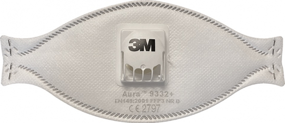 Masca FFP3 3M 9332+ Aura cu valva certificat CE Masti chirurgicale si reutilizabile