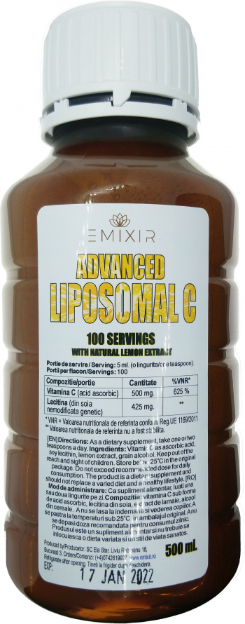 Advanced Liposomal C 100 portii 500ml vitamina C lipozoma Vitamine si Suplimente nutritive