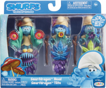 Blister Strumfi- 3 figurine cu masca si toiag Papusi figurine si accesorii papusi