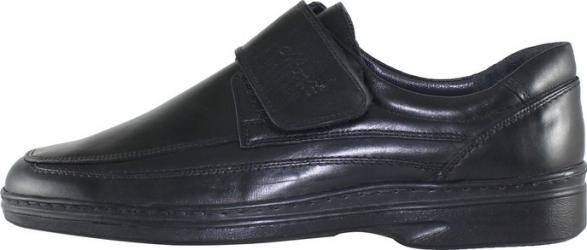 Pantofi casual barbati piele naturala - Nicolis negru - Marimea 47
