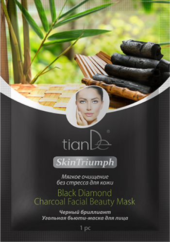 Masca de fata carbune Skin Triumph TianDe 1 buc Masti, exfoliant, tonice