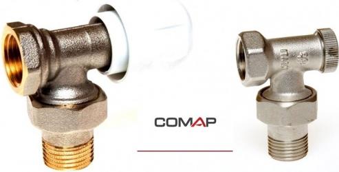 Set robineti calorifer tur si retur de colt 1/2 Comap
